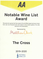 AA Notable Wine List Award